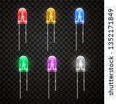 light emitting bright diode ... | Shutterstock .eps vector #1352171849