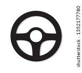 car steering wheel icon  vector ... | Shutterstock .eps vector #1352177780