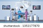 surgeons team surrounding... | Shutterstock .eps vector #1352177870