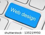 blue web design keyboard button | Shutterstock . vector #135219950