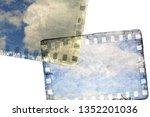 vintage gray film strip frame... | Shutterstock . vector #1352201036