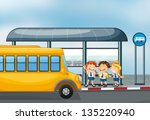 illustration of a yellow school ... | Shutterstock .eps vector #135220940