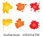 vector collection of artistic... | Shutterstock .eps vector #1352216750