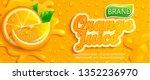 fresh orange juice splash... | Shutterstock .eps vector #1352236970