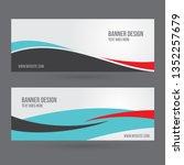 set of horizontal white banners ... | Shutterstock .eps vector #1352257679