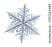Snowflake isolated on white...