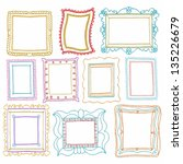 vintage photo frames set ... | Shutterstock .eps vector #135226679