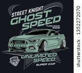 street knight ghost speed ... | Shutterstock .eps vector #1352272070