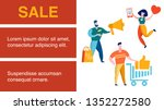online shop  store sell out... | Shutterstock .eps vector #1352272580