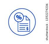tax icon. vector illustration | Shutterstock .eps vector #1352274236