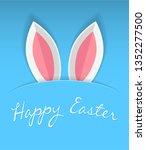 bunny paper ears easter... | Shutterstock .eps vector #1352277500