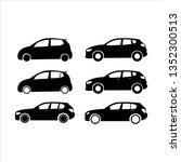 car icon vector set | Shutterstock .eps vector #1352300513