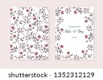 set of floral card with little... | Shutterstock .eps vector #1352312129