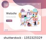 website traffic rank ... | Shutterstock .eps vector #1352325329