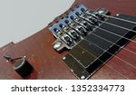 electric guitar pickup view... | Shutterstock . vector #1352334773
