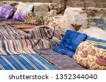 colored carpets and pillows in... | Shutterstock . vector #1352344040