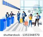 registration for the plane ...   Shutterstock .eps vector #1352348570