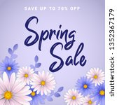 spring sale banner with... | Shutterstock .eps vector #1352367179