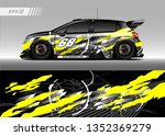 racing car wrap design vector.... | Shutterstock .eps vector #1352369279