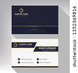 business model name card luxury ...   Shutterstock .eps vector #1352369816