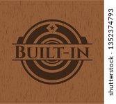 built in wood emblem | Shutterstock .eps vector #1352374793