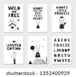 collection of children cards...   Shutterstock .eps vector #1352400929