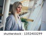 beautiful business woman in... | Shutterstock . vector #1352403299