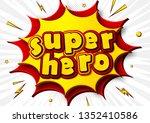 superhero  cartoon background... | Shutterstock .eps vector #1352410586
