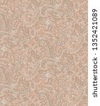 seamless paisley light design | Shutterstock . vector #1352421089