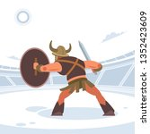 an ancient warrior or gladiator ... | Shutterstock .eps vector #1352423609