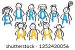 europawahl german for european... | Shutterstock .eps vector #1352430056