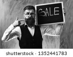 bearded man  long beard. brutal ... | Shutterstock . vector #1352441783
