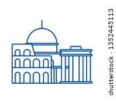 rome line icon concept. rome... | Shutterstock .eps vector #1352445113