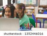 front view of caucasian... | Shutterstock . vector #1352446016