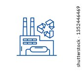 recycling plant line icon... | Shutterstock .eps vector #1352446469