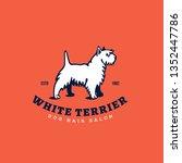 white terrier logo design...   Shutterstock .eps vector #1352447786