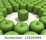 original apple. green apple of... | Shutterstock . vector #135245894