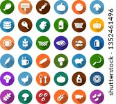 color back flat icon set  ... | Shutterstock .eps vector #1352461496