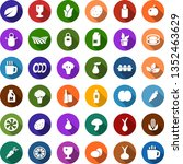 color back flat icon set  ... | Shutterstock .eps vector #1352463629