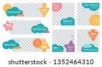cute design set for kids... | Shutterstock .eps vector #1352464310