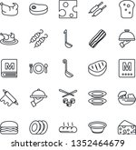 thin line icon set   cafe... | Shutterstock .eps vector #1352464679