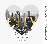 City Brooklyn Slogan Golden...