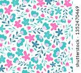 cute seamless floral pattern...   Shutterstock .eps vector #1352470469
