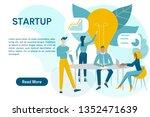 teamwork concept web banner... | Shutterstock .eps vector #1352471639