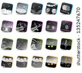 music icons   set   isolated on ...   Shutterstock .eps vector #135247670