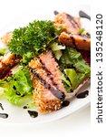 freshness salmon on salad... | Shutterstock . vector #135248120