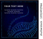 grunge vector greeting... | Shutterstock .eps vector #1352492966