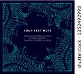 grunge vector greeting... | Shutterstock .eps vector #1352492993