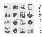 finance and money icon set... | Shutterstock .eps vector #135252668