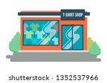 t shirt store. concept front... | Shutterstock .eps vector #1352537966